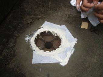 排水溝周りの防水処理