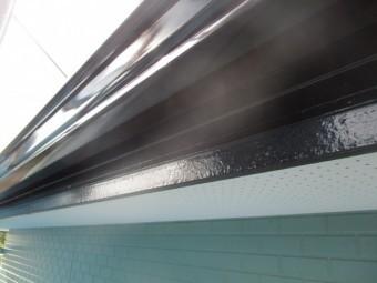 破風板の塗装が終了しました