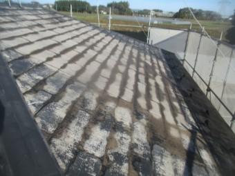 大屋根の高圧洗浄後です