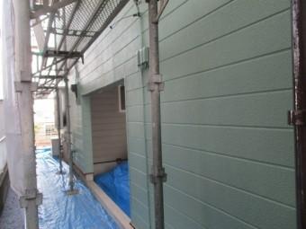 北面の外壁塗装が終了しました