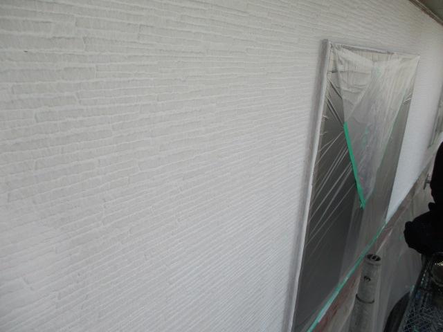 外壁の上塗りが終了しました