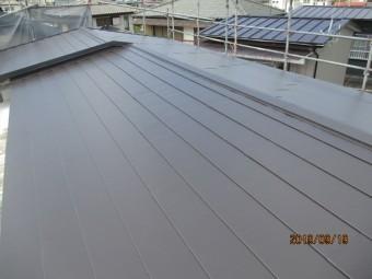 屋根カバー工事が完工しました