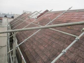 施工前の南面屋根の状態です
