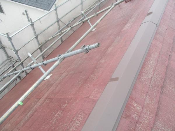 コロニアル屋根の高圧洗浄が終了しました