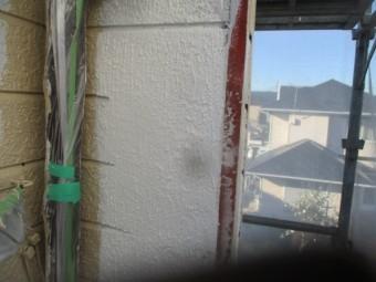 柄付け終了後の外壁の状態です